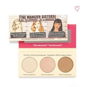 The Balm cosmetics Manizer sisters highlighter